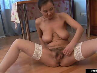 fucking mommy, Svetlana has fun with her hairy pussy