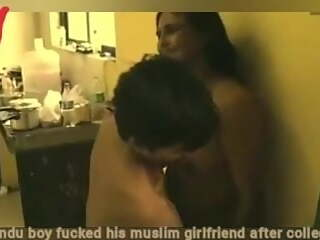 Hindu boy fucked his muslim girlfriend brutally after college