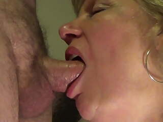 Mature throat fuck and cum