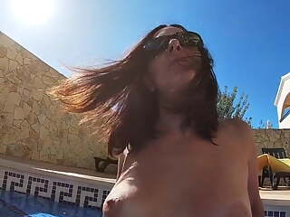 Fucking Amateur Irene by the pool