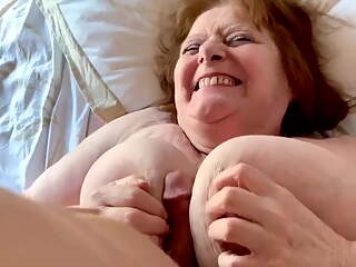 French 82yo granny with big tits