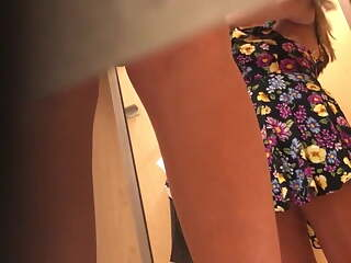 Hidden Cam. Chubby brunette changing clothes