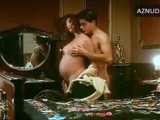 Pregnant woman having wild sex with a young man