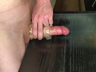 Horny Fit Guy Fucks A Fleshlight With His Big Dick - Cumshot - Moaning