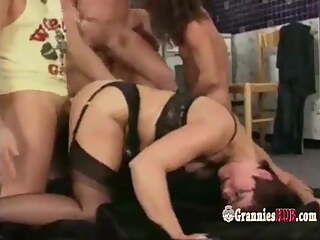 Wicked German Gilfs And Grannies Orgy(720HD).