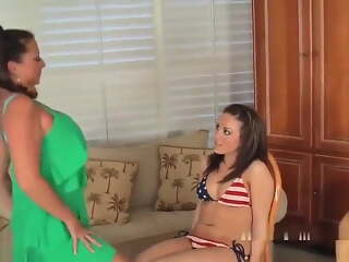 Mother Teaches Daughter Stripping
