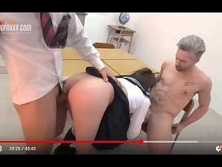 Student teacher interracial threesome