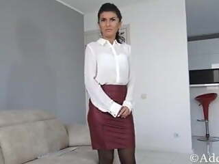 Sexy Secretary Forced To Suck & Take Cum on her Face!