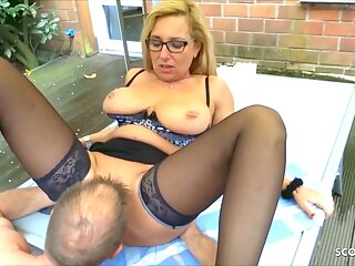 German Mature Wife Has Cheating Sex In The Garden With The Neighbor