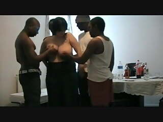 Sharing GF With Huge Tits With A Group Of Black Men