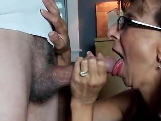 Perfect Granny swallows cum