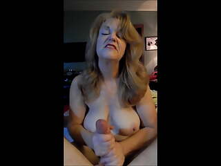 Mature Wife Gives A Dirty Talking Handjob