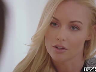Mature boss Kayden Kross seduces timid cutie Eve in the office