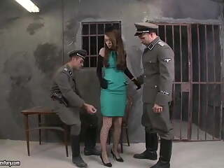 Polish girl fucked by two Nazis