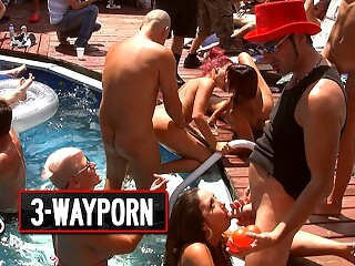 3-Way Porn - Crazy group Sex Orgy Fuck Outside