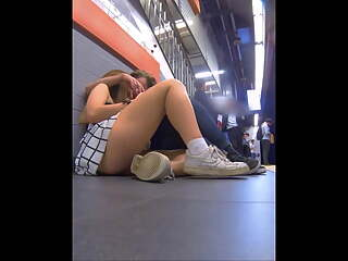 Teen Upskirt, Waiting for Train