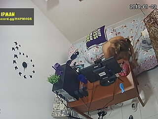 Hacked IP Camera - Cute Blonde Teen Masturbates