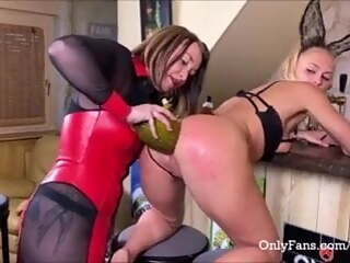 Fruits gape an asshole