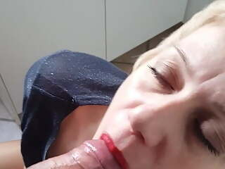 Polish woman gives a blowjob