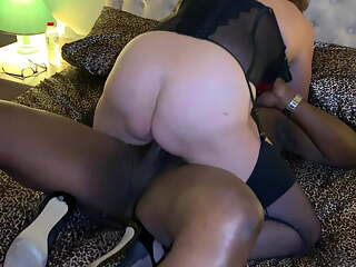Hotwife cuckolds husband with BBC and squirts