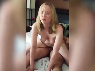 Sexy amateur wife having a real orgasm with hubby's friend