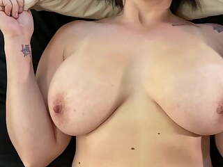 POV wife fucks after she made herself cum