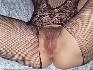 Wife in bodystockings gets second creampie.