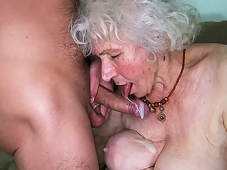 Curvy 91 year old mom fucked by toyboy