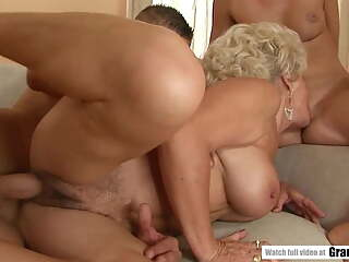 GILF Effie Shares A Cock With Teen
