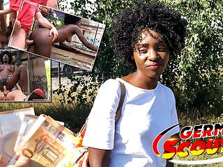 GERMAN SCOUT - EBONY MILF ZAAWAADI, PUBLIC PICKUP SEX FOR CASH