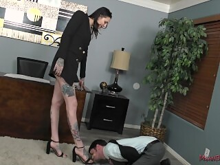 Tall Beautiful Office Bully - Rocky Emerson - Femdom
