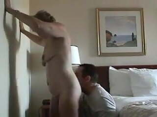 Younger Guy and Mom have fun at Hotel