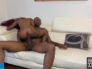 Tiny black beautiful midget has fun