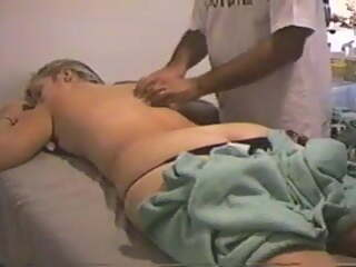 Sharing wife with masseuse. Her first time with a stranger.