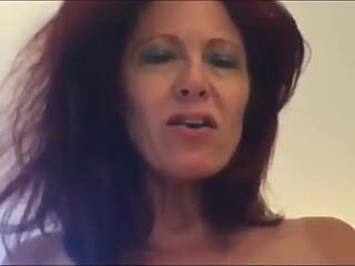 Gorgeous Redhead Mature Chick, Homemade Sex