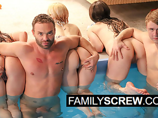 Family Orgy at my Cousin's Pool