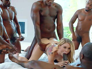 Interracial Gangbang Compilation