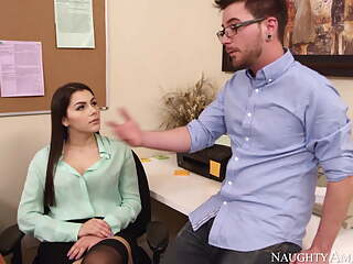 Valentina Nappi in black stockings gets hard fucking