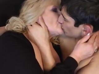 Making out with an old lady excites his dick