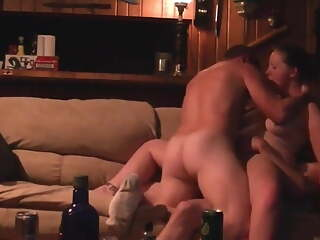 2 country boys dp a bar slut