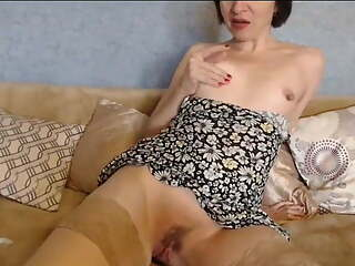Old whore with a big clit