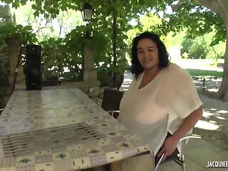Hot French BBW Ines gets fucked on camera