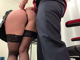 Secretary takes it in the ass before going home