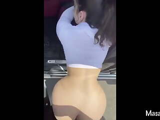Laila gets her big arab ass fucked in a parking lot