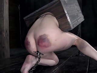 BDSM, beautiful slave girl tortured violently - she loves it
