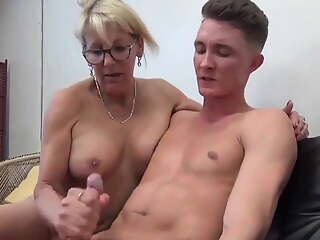 Taboo sex with lonely mature MILF