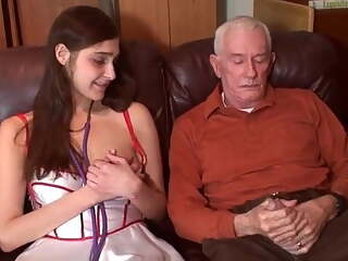 Sexy nurse fucks old man