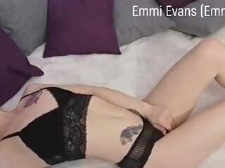 Lying on my bed in sexy lingerie