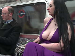 Perfect in Purple - Part 3 - Large natural boobs in public
