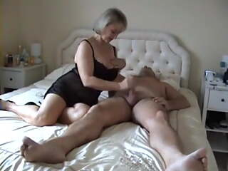 Mature blonde Michelle riding a cock
